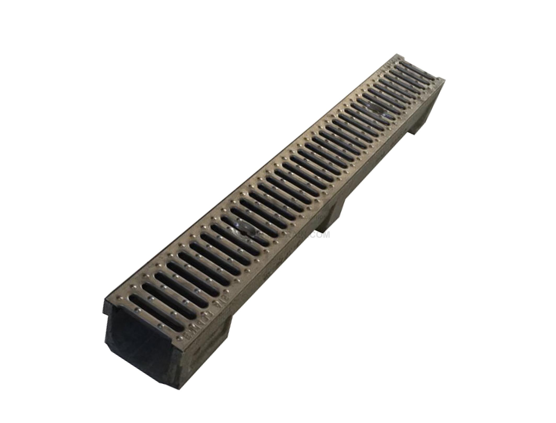 Trench Drain Ne100 Z02 With Cast Iron Grate