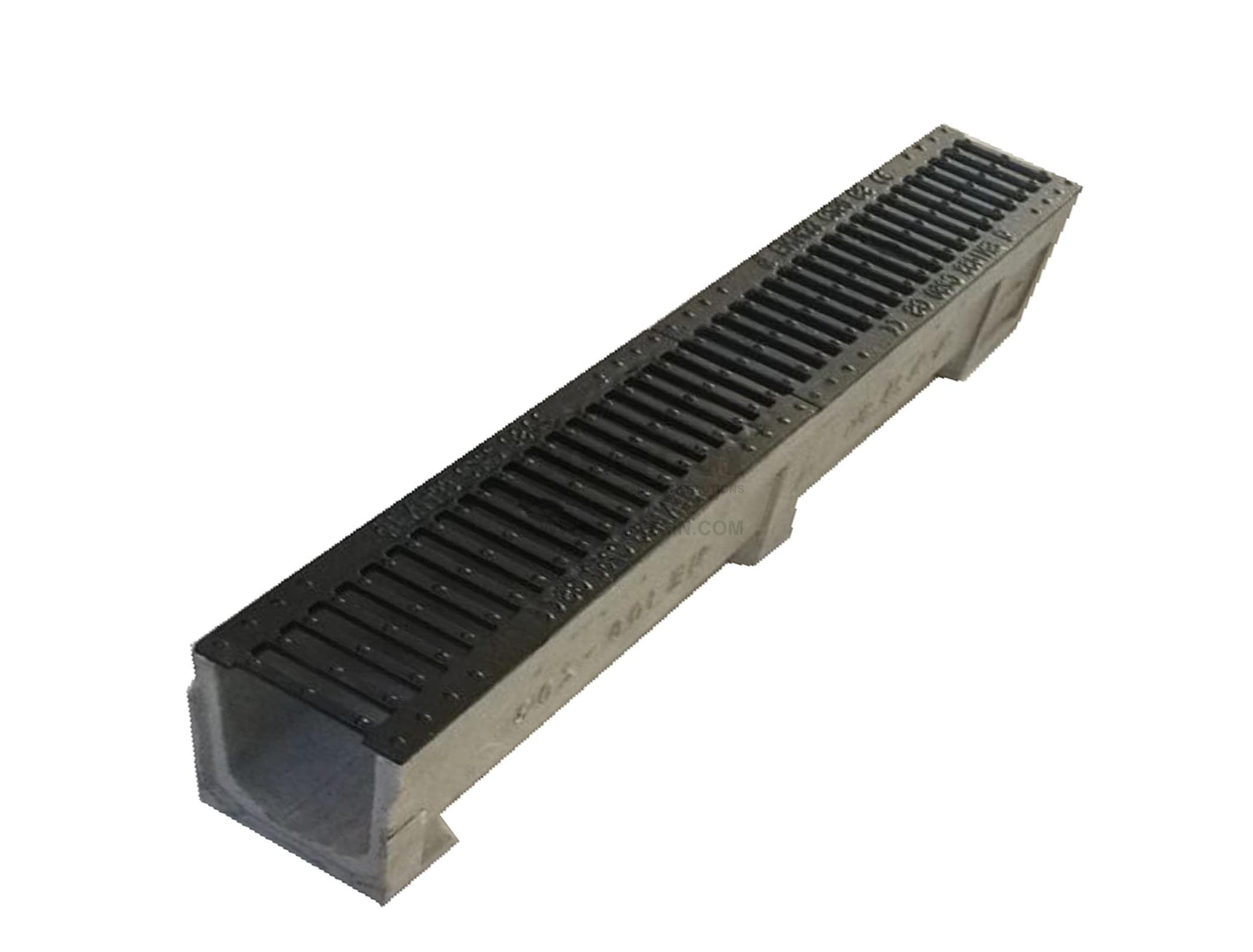Trench Drain Ne100 Z03 With Stainless Steel Grate