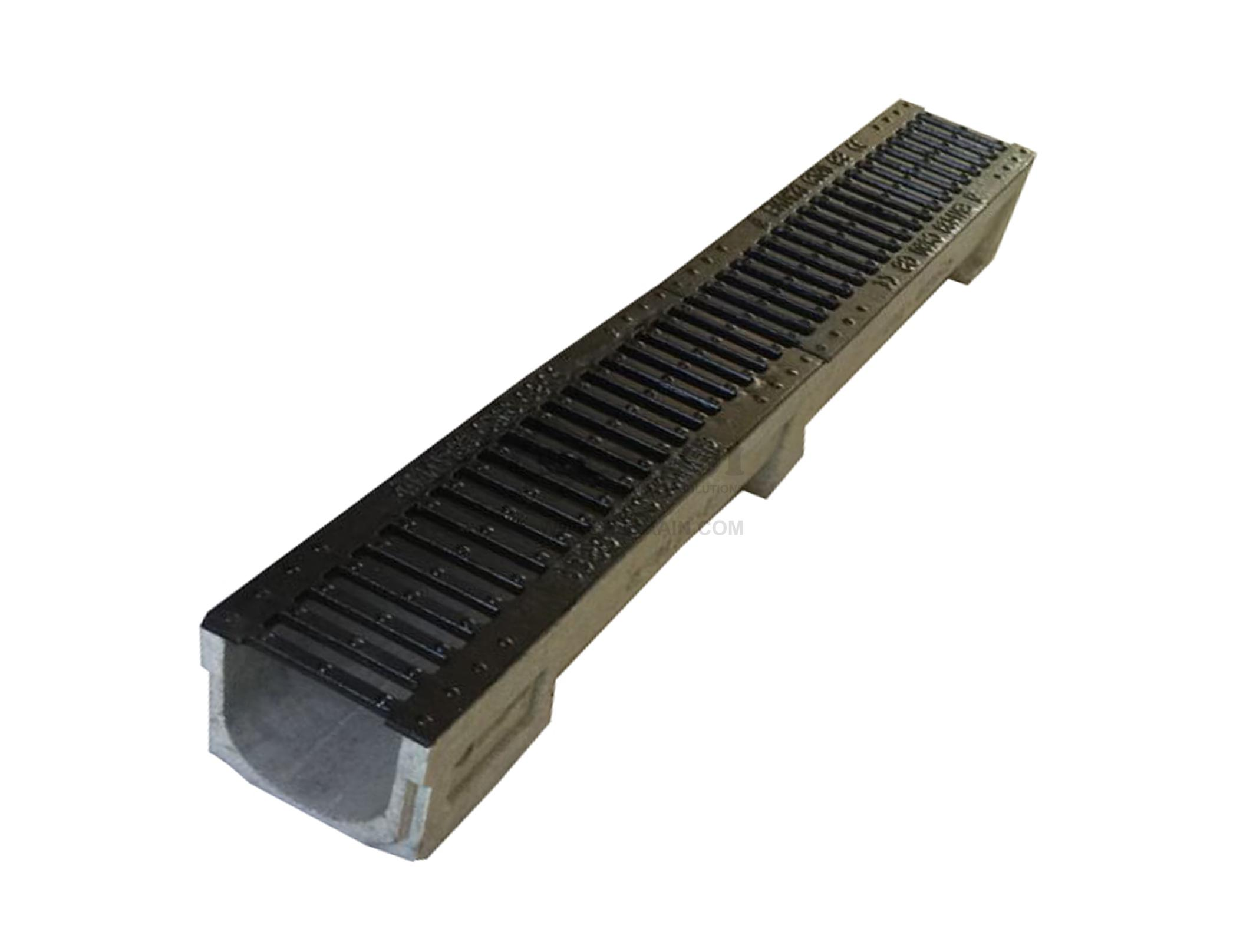 Trench Drain Ne100 Z04 With Stainless Steel Grate
