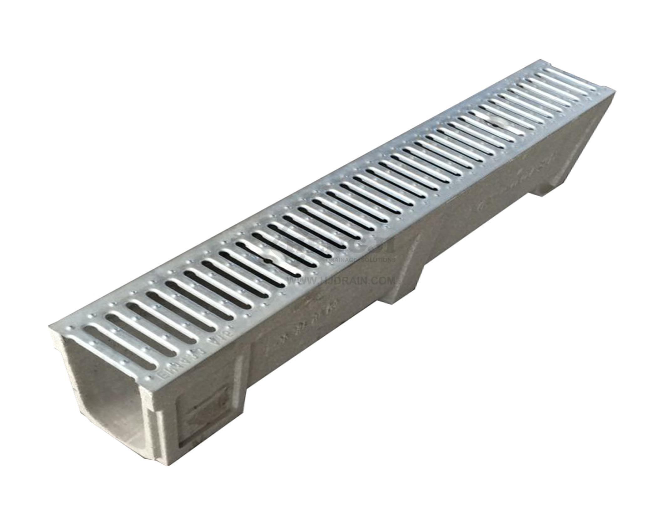 Trench drain ne100 z04 with stainless steel grate for Residential trench drain systems