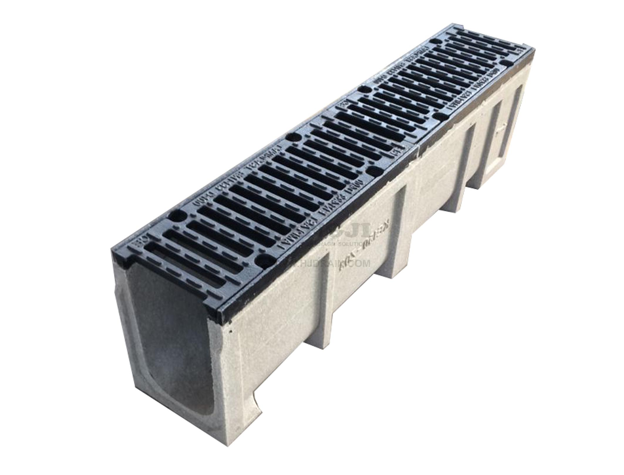 Trench Drain Ke150 Z03 With Cast Iron Grate